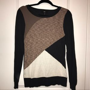 Mossimo Supply Co. Sweaters - Mossimo Neutral Color Block Sweater